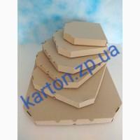 Коробки для пиццы белые и бурые