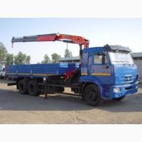 Новый грузовой автомобиль КАМАЗ-65117-6010-78 с краном-манипулятором