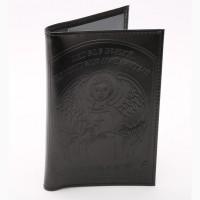 Купи обложка на паспорт натуральная кожа с тиснением Ангела Хранителя