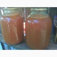 Сок томатный в 3 литровых банках из домашних помидор урожая 2019 года