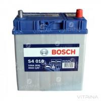 Аккумулятор BOSCH 40Ah-12v S4018 (187x127x227) с тонкими клеммами | R, EN330 (Азия)