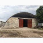 Арочные бескаркасные ангары, хранилища, склады