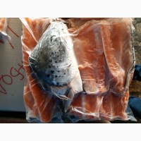 Суповой набор рыбный (голова лосося+хребет лосося), замороженный