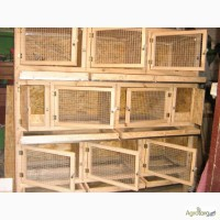 Купить деревянные клетки для кроликов 3 яруса