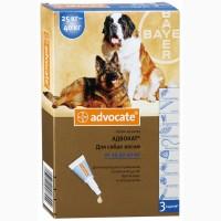 Капли Адвокат для собак весом 25-40кг (1пипетка)