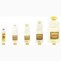 Масло подсолнечное рафинированное дезодорированное +нерафинированное и кукурузное раф.дез