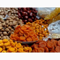 Орехи, сухофрукты, цукаты. Большой ассортимент в одном месте