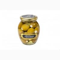 Маслины зеленные фаршированные сыром «Фета» 0, 35 л