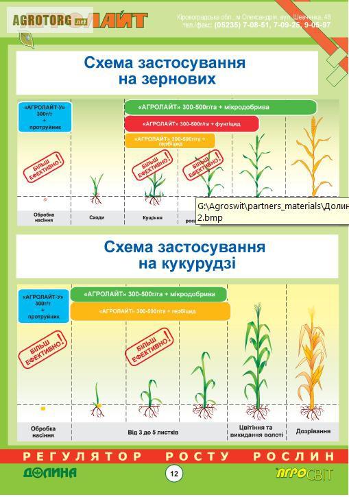Схема применения на кукурузе